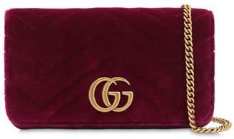 Gucci Mini Gg Marmont Velvet Shoulder Bag