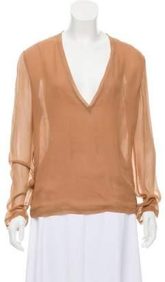 Calvin Klein Collection Sheer Silk Top