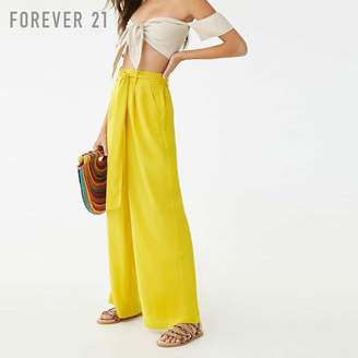 Forever 21 (フォーエバー 21) - Forever 21 サッシュベルトワイドパンツ