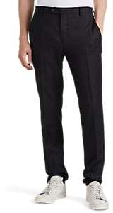 Valentino MEN'S PLAID WORSTED WOOL SLIM TROUSERS