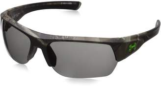 Under Armour UA Big Shot Polarized Wrap Sunglasses, UA Big Shot Satin Black/Black / Offshore Polarized