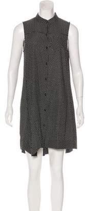 Rag & Bone Silk Printed Sleeveless Mini Button-Up Dress