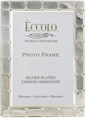 "Eccolo 4"" x 6"" Silver-Plated Gatsby Picture Frame"