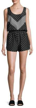 Stella McCartney Chevron & Polka Dot All-in-One Romper Coverup, Black/White $400 thestylecure.com