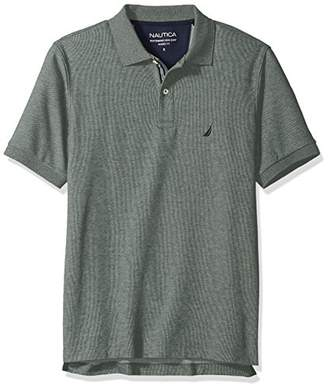 Nautica Men's Classic Short Sleeve Solid Deck Polo Shirt