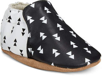 Robeez Baby Boys Beau Black Soft Sole Shoes