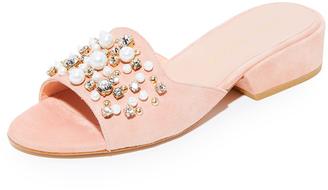 Stuart Weitzman Decorslide Sandals $498 thestylecure.com