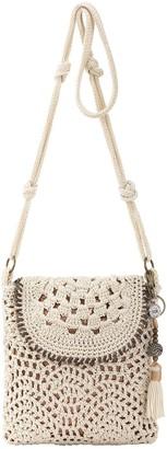 The Sak Sayulita Crocheted Flap Crossbody Handbag