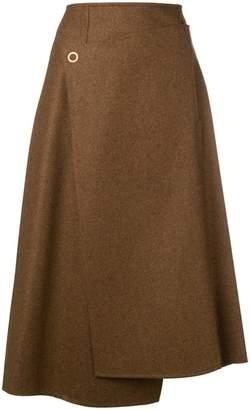 Acne Studios A-line wrap skirt