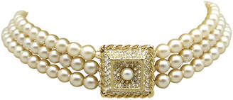 One Kings Lane Vintage Edwardian-Style Faux-Pearl Choker - Thanks for the Memories