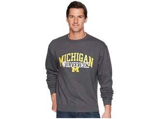 Champion College Michigan Wolverines Eco Powerblend Crew Men's Short Sleeve Pullover