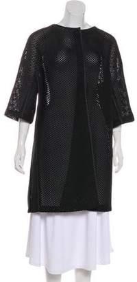 Armani Collezioni Mesh Knee-Length Coat