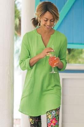 Soft Surroundings Santorini Gauze Pullover