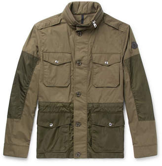 Moncler Agard Cotton and Shell Field Jacket - Men - Army green
