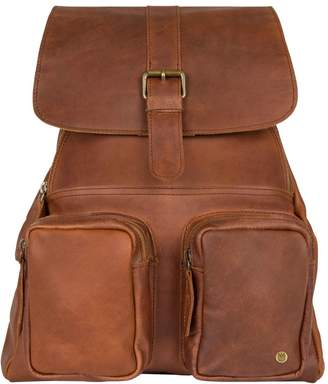 MAHI Leather - Leather Roma Backpack Rucksack Womens In Vintage Brown