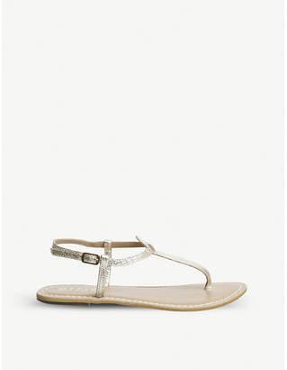 Office Samba toe-post leather sandals