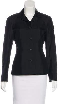 Prada Silk-Blend Button-Up Blazer