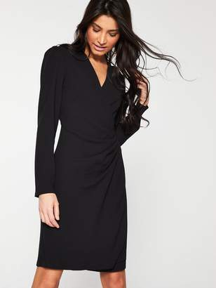 Very Formal Wrap Tunic - Black