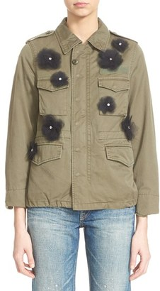 Women's Tu Es Mon Tresor Tulle Flower Military Jacket $1,795 thestylecure.com