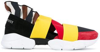 Emilio Pucci colour block strap trainers $457.82 thestylecure.com