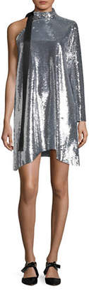 Mo&Co. Sequin One-Shoulder Dress