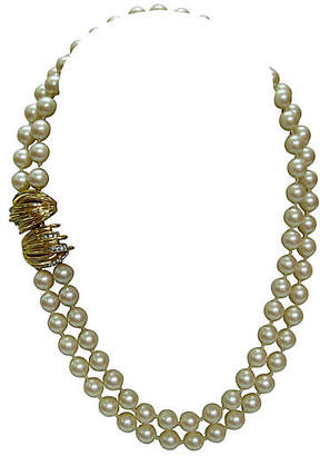 One Kings Lane Vintage 1980s Givenchy Pearl Enhancer Necklace - Wisteria Antiques Etca