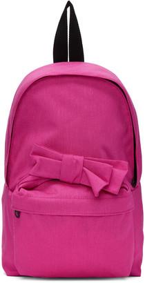 Comme des Garçons Girl Pink Nylon Bow Backpack $275 thestylecure.com
