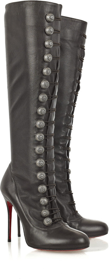Christian Louboutin Ronfifi Alta 100 buttoned boots