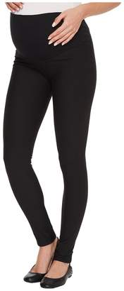Plush Maternity Fleece-Lined Cotton Over-Belly Leggings Women's Clothing