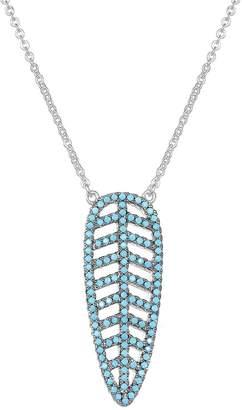 Glamorous KIVN Jewelry Cubic zirconia pendant Necklaces-KIVN Fashion Jewelry Leaves Leaf Pendant Necklaces for Women