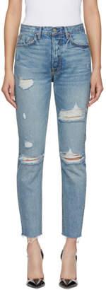 GRLFRND Blue Distressed Karolina Jeans