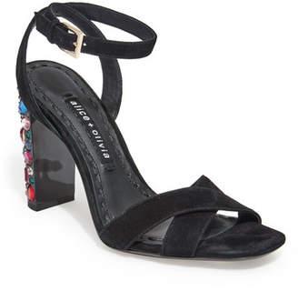 Alice + Olivia Renia Embellished Block-Heel Sandals