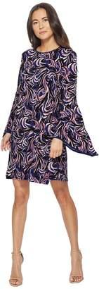 Taylor Jersey Shirt Dress w/ Bell Sleeves Women's Dress