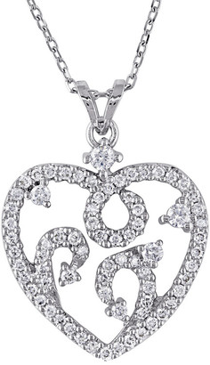 Diamond Select Cuts 14K 0.50 Ct. Tw. Diamond Heart Necklace