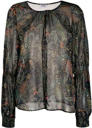 Liu Jo sheer paisley blouse