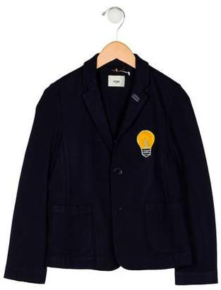 Fendi Boys' Notch-Lapel Button-Up Blazer