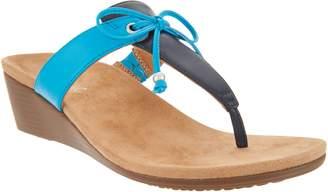 Vionic Bow T-Strap Wedge Sandals - Della