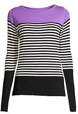 Beatrice. B Women's Colorblock Stripe Knit Pullover