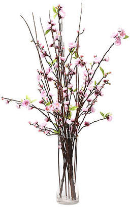 "One Kings Lane 34"" Pink Blossom Arrangement with Tall Vase - Faux"