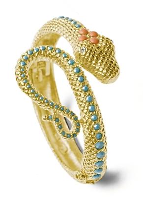 R.j. Graziano Coiled Snake Bracelet: Coral