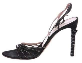 Prada Multistraps Slingback Sandals