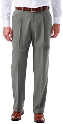 Haggar Men's eCLo Glen Plaid Classic-Fit Pleated Dress Pants