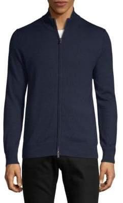 Saks Fifth Avenue Full-Zip Wool Sweater