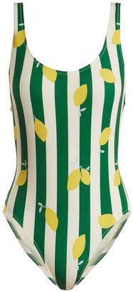 Solid & Striped The Anne-Marie lemon-print swimsuit