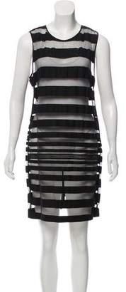 Kelly Wearstler Sheer-Paneled Sleeveless Dress