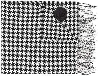 Liu Jo dogtooth patterned scarf