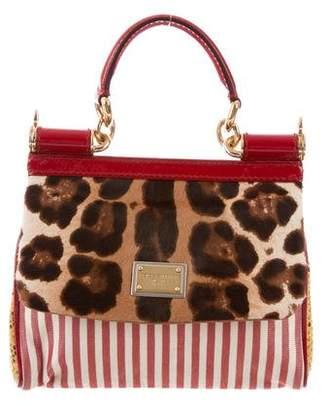 Dolce & Gabbana Snakeskin-Trimmed Patchwork Bag