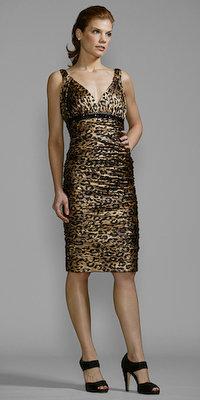 Leopard Print Cocktail Dresses by Carmen Marc Valvo
