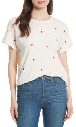 Women's The Great. The Embroidered Boxy Crew Tee $115 thestylecure.com