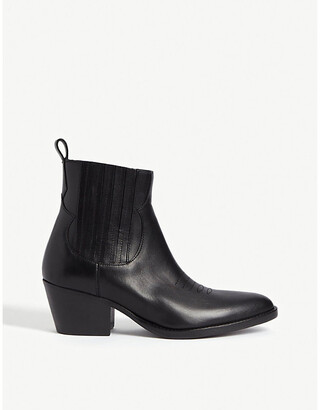 Maje Farwest leather cowboy boots